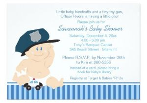 Police Baby Shower Invitations Baby Cop Police Officer Baby Shower Invitation Zazzle
