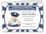 Police Baby Shower Invitations Diy Police Baby Shower Invitation Baby Police Outfit