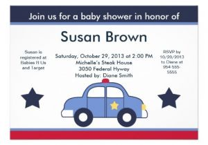 Police Baby Shower Invitations Personalized Police Baby Shower Invitations