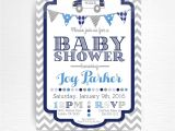 Police Baby Shower Invitations Police Officer Baby Shower Printable Invitation You Print Blue