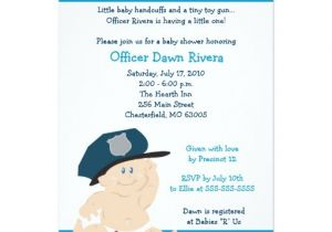 Police Baby Shower Invitations Police Officer Cop Baby Shower Invitation 5×7 Zazzle