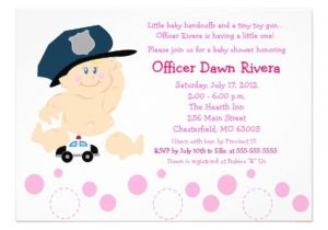 Police Baby Shower Invitations Police Officer Cop Girl Baby Shower Invitation 5×7 Zazzle