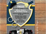 Police Party Invitation Templates Items Similar to Police Birthday Invitation Printable On Etsy
