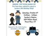 Police Party Invitation Templates Police Birthday Invitations Birthday Party Invitation