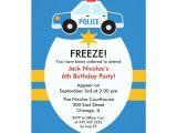 Police Party Invitation Templates Police Birthday Party Invitation Zazzle Com