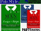 Polo Baby Shower Invitations Polo Style Baby Shower Invitation Shirt A Little Man is