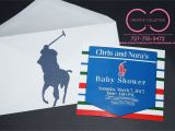 "Polo themed Baby Shower Invitations Horsemen ""polo"" theme Invitation Card with Envelope sold"