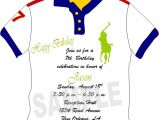 Polo themed Baby Shower Invitations solutions event Design by Kelly Custom Made Polo Shirt