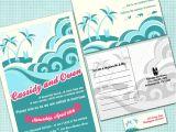 Polynesian Wedding Invitations Custom Hawaiian Wedding Invitation Suite Beach Wedding