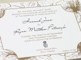 Polynesian Wedding Invitations Hawaiian Wedding Invitation Metallic Gold Black