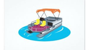 Pontoon Boat Party Invitations Pontoon Boat Retro 9 Cm X 13 Cm Invitation Card