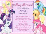 Pony Party Invitation Templates Free Printable My Little Pony Birthday Invitations Free