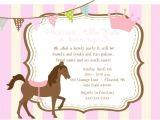 Pony Party Invitation Templates Invitation Pony Cake Ideas and Designs