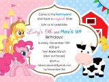 Pony Party Invitation Wording My Little Pony Birthday Invitations Template Resume Builder