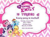 Pony Party Invitation Wording My Little Pony Birthday Party Invitation Digital