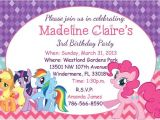 Pony Party Invitation Wording My Little Pony Birthday Party Invitations Baby Shower