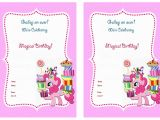 Pony Party Invites Free Printable My Little Pony Birthday Invitations Birthday Printable