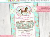 Pony Party Invites Free Printable Pony Invitation Horse Invitation Cowgirl Invitation