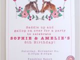 Pony Party Invites Free Printable Printable Horse Party for Twins Horse Party Kids Party