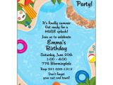 Pool Birthday Party Invitation Wording Backyard Pool Party Invitations