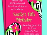 Pool Birthday Party Invitation Wording Pool Party Birthday Invitation Wording