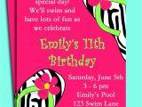 Pool Party Birthday Invitation Wording Pool Party Birthday Invitation Wording