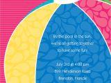 Pool Party Birthday Invitation Wording Pool Party Invitation Wording