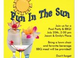 Pool Party Invitation Ideas for Adults Yellow Adult Pool Party Bbq Invitations