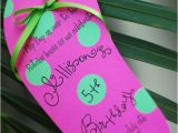 Pool Party Invitation Ideas Homemade Diy Pool Party Luau Flip Flop Birthday by Palmbeachpolkadots