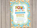 Pool Party Invitation Ideas Homemade Invitations Kids Kid and Birthdays On Pinterest