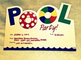 Pool Party Invitation Ideas Homemade Pool Party Invitation Ideas