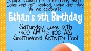 Pool Party Invitation Ideas Kid Pool Party Invitation Wording