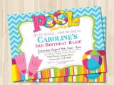 Pool Party Invitation Ideas Pool Party Invites Templates