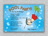 Pool Party Invitation Ideas Stunning Pool Party Birthday Invitations You Can Modify
