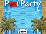 Pool Party Invitation Template Free Kids Party Invitations Pool Party Invitation