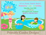 Pool Party Invitations for Kids Free Printable Birthday Pool Party Invitations Templates