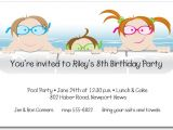 Pool Party Invitations for Kids Kids In the Pool Party Invitation