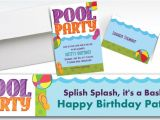 Pool Party Invitations Party City Custom Pool Party Invitations Thank You Notes Party City