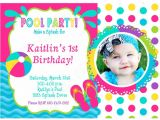 Pool Party Invitations with Photo Girls Printable Birthday Invitations Page 3