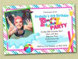 Pool Party Invitations with Photo Photo Personalised Pool Party Birthday Invitations Ebay