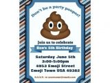 Poop Emoji Birthday Invitations 1000 Images About Kids 2 12 Birthday Invitations On Pinterest