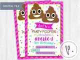 Poop Emoji Birthday Invitations Poop Emoji Invitations Rainbow Emoticon by Peadots