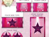 Pop Star Party Invitations Pink Pop Star Rock Star Karaoke Star Party Invitation