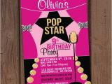 Pop Star Party Invitations Pop Star Birthday Party Invitation