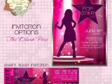 Pop Star Party Invitations Pop Star Party Invitation Diy Printable Party Invitation