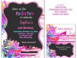 Pop Star Party Invitations Pop Star Party Pop Star Invitation Kareoke Invitation