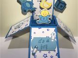 Pop Up Baby Shower Invitations Newborn Baby Boy Pop Up Box Card It S A Boy Pop Up Card