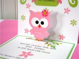 Pop Up Baby Shower Invitations Pop Up Invitations Owl Invitation Owl Invites Pop Up Owl