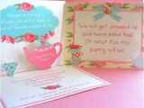Pop Up Baby Shower Invitations Shabby Chic Tea Pop Up Invitations for Birthdays or Baby