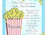 Popcorn Baby Shower Invitations Popcorn Baby Shower 5 25×5 25 Square Paper Invitation Card